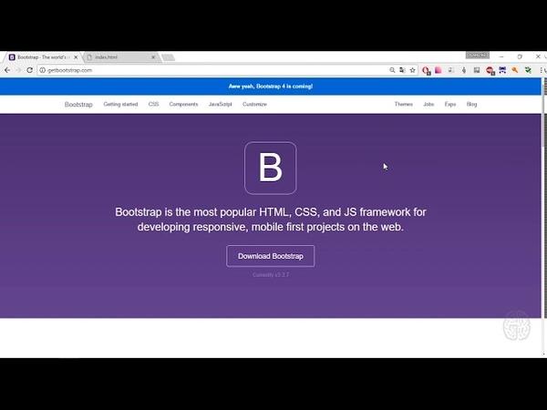 Html css interactive. 7.3 Знакомство с Bootstrap