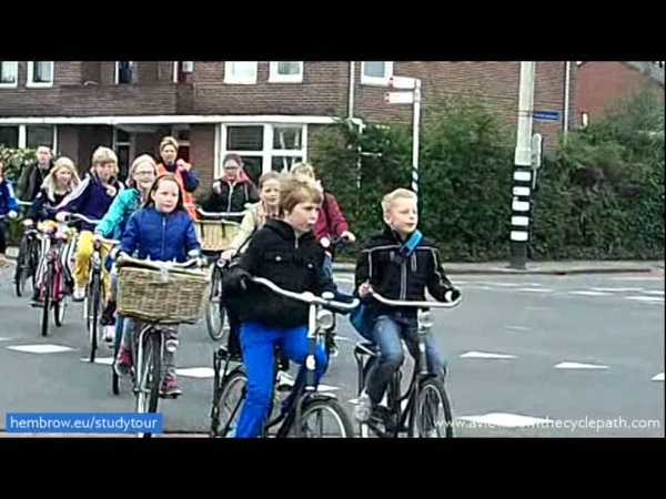 School trips by bicycle An everyday occurrence in Assen Netherlands True mass cycling