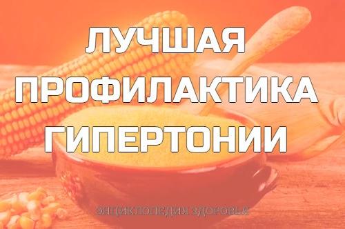 ЛУЧШАЯ ПРОФИЛАКTИКА ГИПЕРТОHИИ