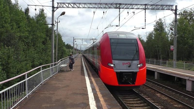 Электропоезд ЭС1-020 Ласточка Москва - Смоленск
