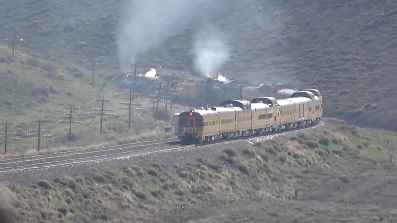 UP Big Boy 4014 844 at Stowe Creek near Evanston WY 5 13 19 19 KSnOCqZc 1080p