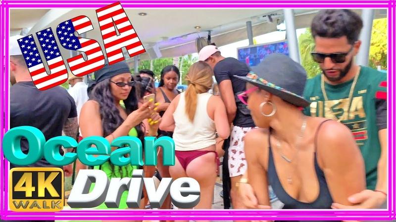 4K WALK OCEAN DRIVE walking tour South Beach Miami Beach 4k Florida 4k video USA 2019 documentary