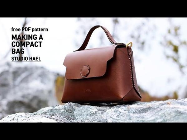 Making a compact bag 콤팩트백 만들기 Leather craft PDF 가죽 공예 패턴