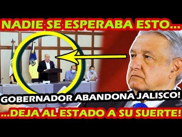 ESTO NADIE LO ESPERABA ¡ GOBERNADOR ALL FARO ABANDONA A JAA LISCO A SU SUERTE ! ESTO DIJO