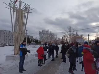 Сход граждан в поддержку справедливого расследования дела Дмитрия Федорова.