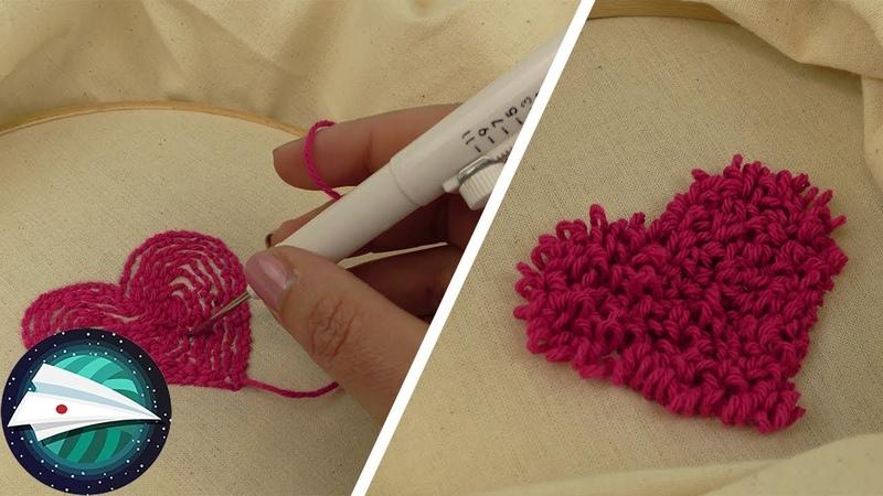 DIY おもしろい刺繍針をテスト!ふさふさした刺繍が簡単にできちゃう 12501