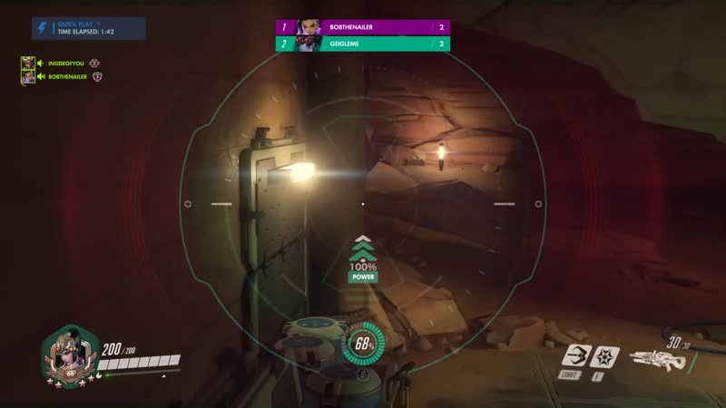 My buddy was harassing me as Sombra during deathmatch while waiting for the next match to start I'm not a very good Widow so i
