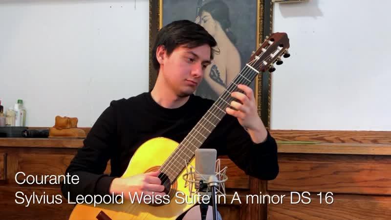 Courante in A minor SW 42 Stefano Vivaldini guitar