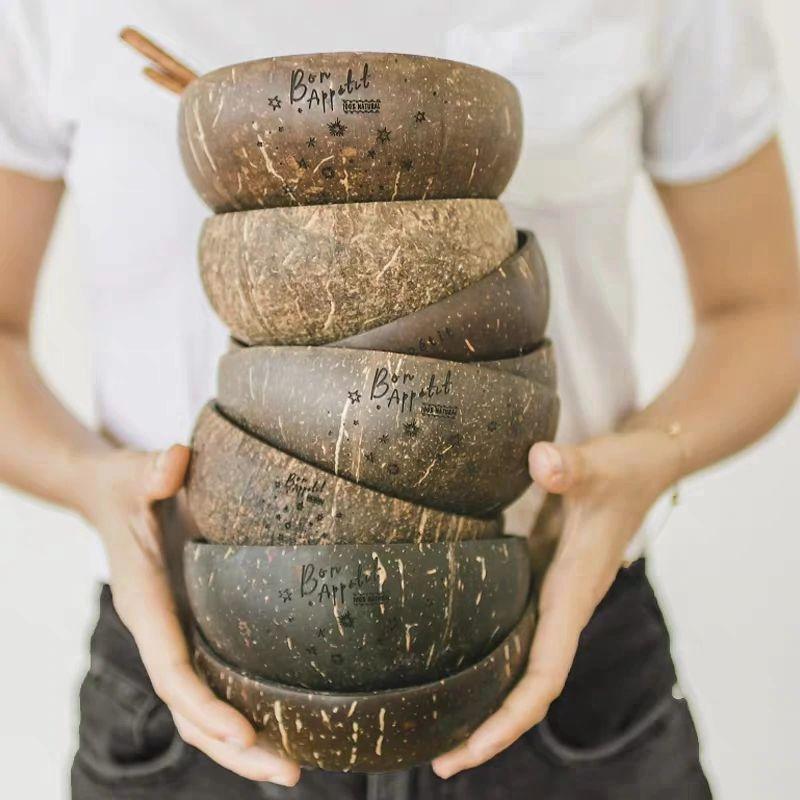 Тарелки из кокосовой скорлупы -