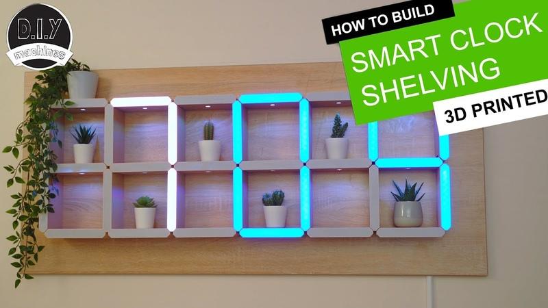 How to build a Hidden Shelf Edge Clock 3D Printable Elegoo Arduino Nano Smart Home LED