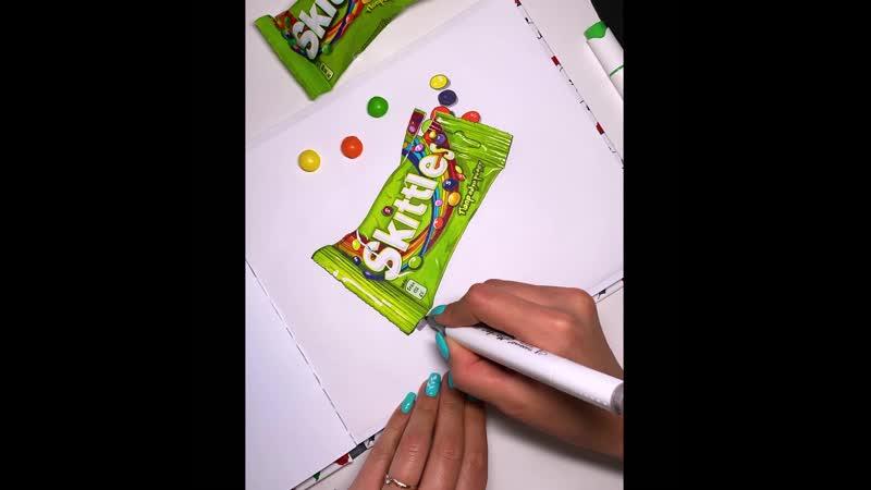 Скетч маркерами Skittles