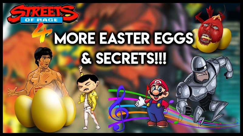 Streets Of Rage 4 Easter Eggs Secrets References PART 2 SoR4