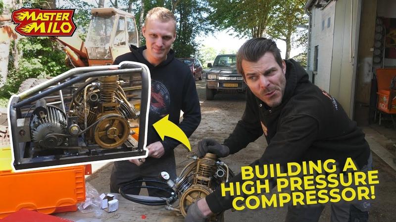 Hogedruk compressor bouwen Tank Restoration