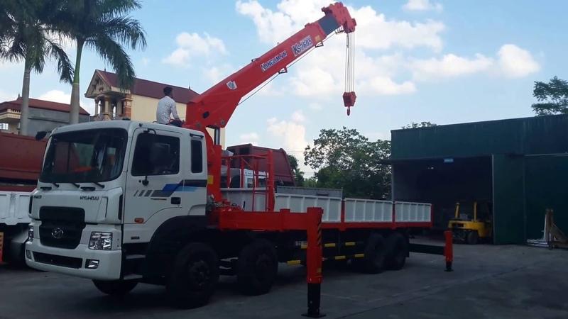 Nghiệm thu cẩu tự hành Kanglim 10 tấn KS2605 lắp trên Hyundai HD320 Hotline Zalo 0903 307333