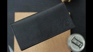 Косой шов на коже с двух сторон / Stitching leather by hand