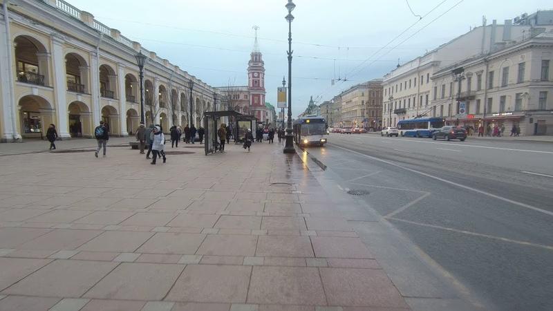 Прогулка по центру Петербурга. Март 2020.