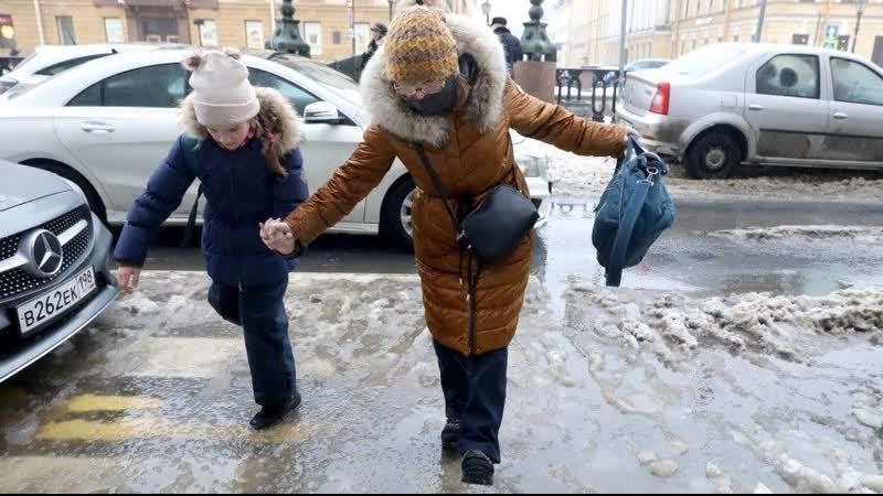 Температурные качели превратили Петербург вледовую арену