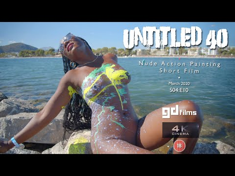 S4 E10 Ebony Art Action Body Painting 'Untitled No 40' GD Films BMPCC 4K March 2020