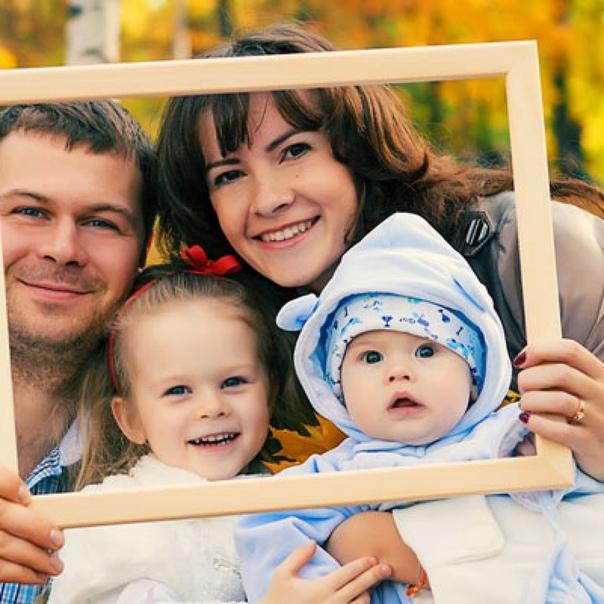 создать фото моя семья жареного мясца окружении