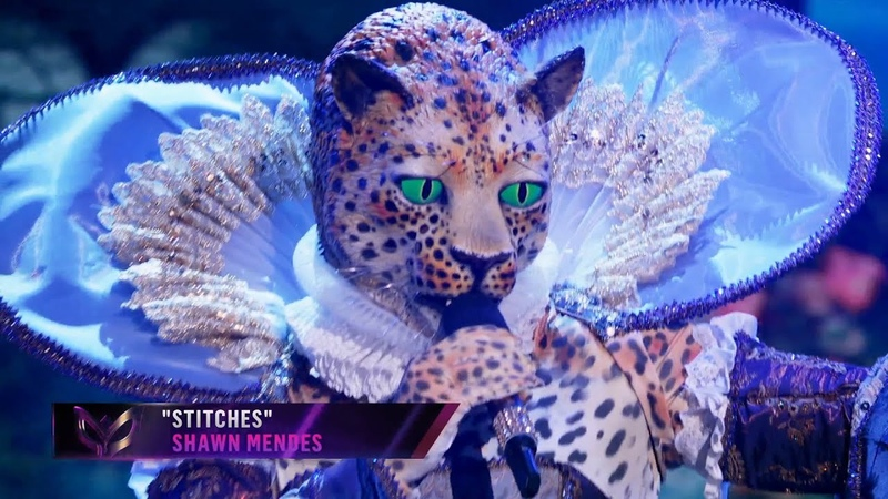 Leopard sings Stitches by Shawn Mendes THE MASKED SINGER SEASON 2