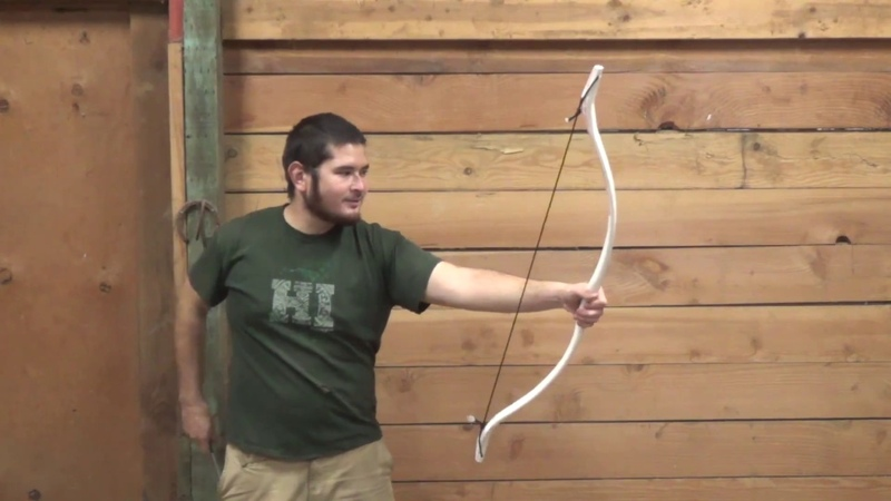 40 Pound PVC Bow Freehand Tapered No Flattening Jig Needed