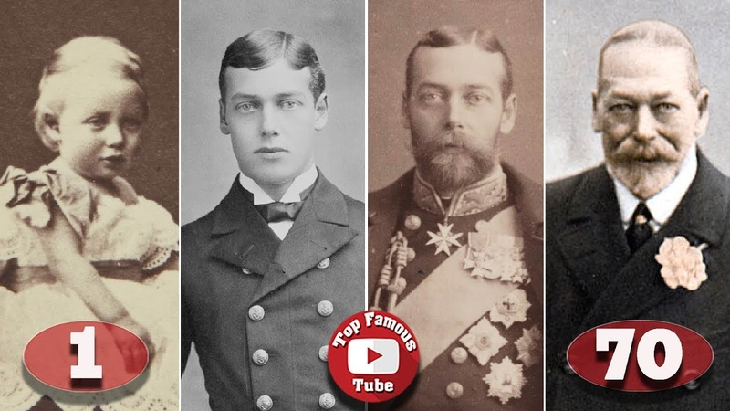 King George V Transformation From 1 To 70 Years Old