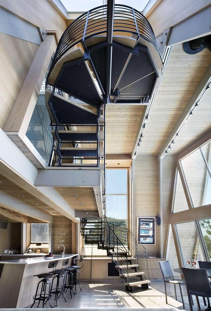 A-Frame реализован студией Bromley Caldari Architects на острове Файр Айленд в американском штате Нью-Йорк.