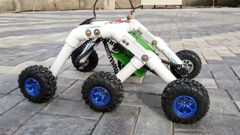 How to Make a Mars Rover Rocker bogie Robot Stair climbing