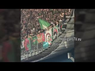 Фанаты Локомотива избили болельщика Зенита, пытавшегося украсть флаг с трибуны