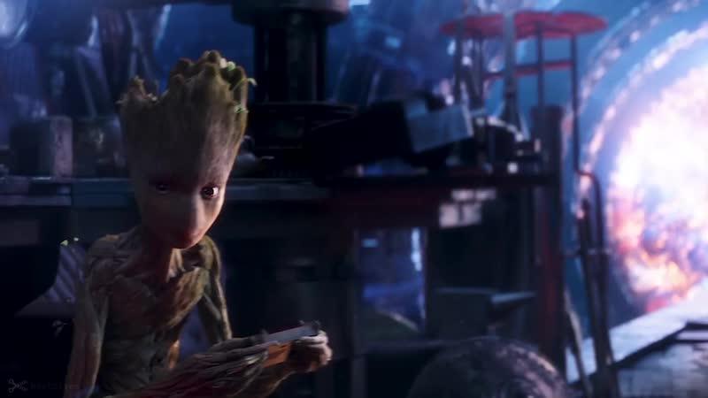 Making Stormbreaker Scene Groot Lifts Thors Hammer Avengers Infinity War 2018 Movie CLIP HD 720p