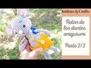 Ratón de los dientes amigurumi a crochet - Parte 2/3 brazos, cola, piernas y pantalón