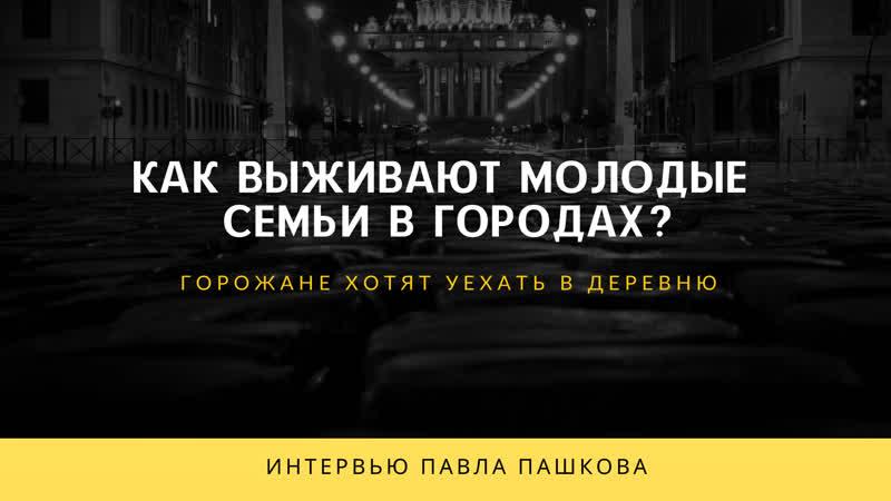 ВЫЖИТЬ В ГОРОДЕ как выживают молодые семьи в городах Интервью Павла Пашкова