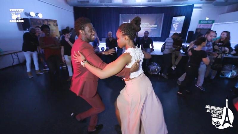 Tamba Salsaché Hissirou Noémie Blgn social dancing @ International Salsa Shines Contest Paris
