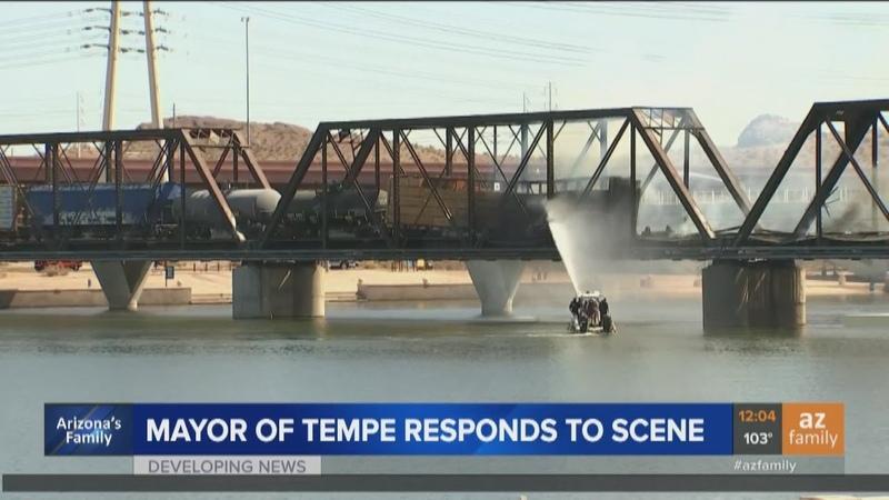 Aftermath Cleanup investigation underway after train derails bridge collapses in Tempe