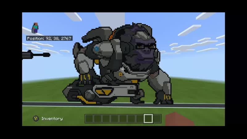I've made Winston in Minecraft