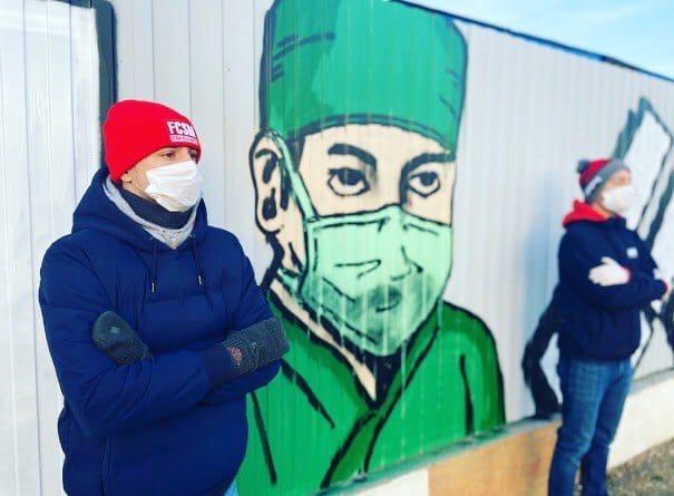 Граффити болельщиков Спартака в Коммунарке