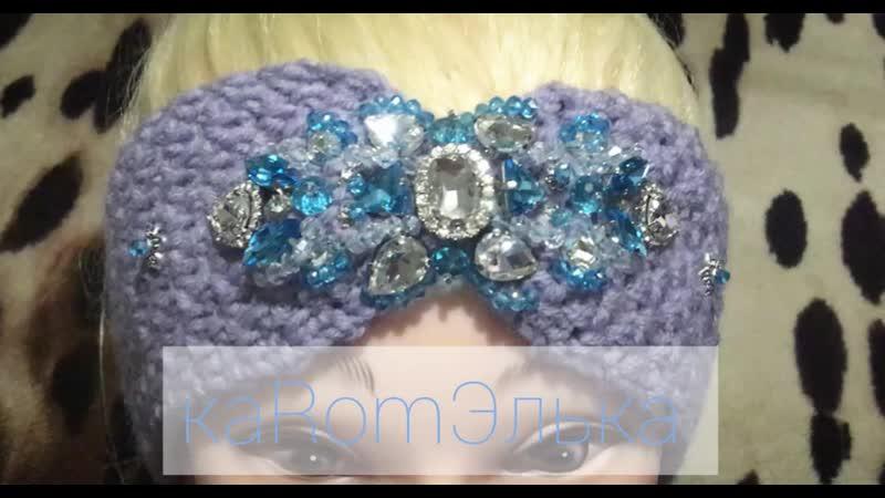 Роскошная повязка с ручной вышивкой от мастерицы Эльвиры Вязаловой