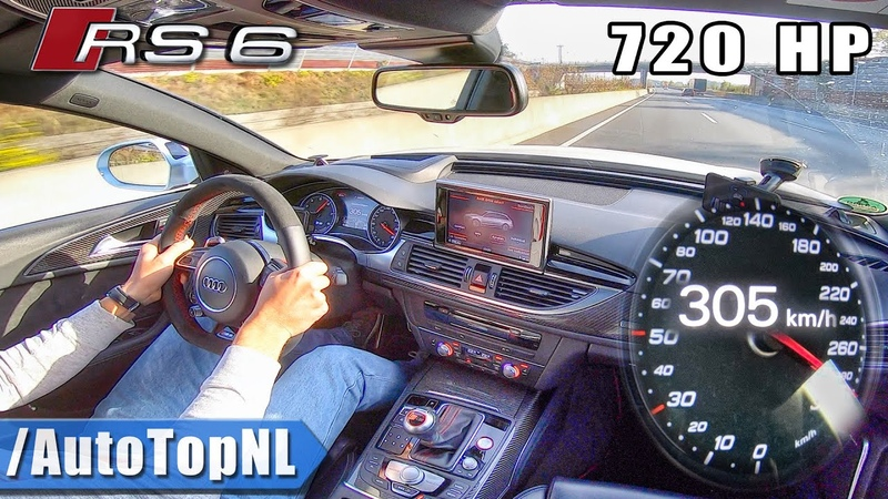 720HP AUDI RS6 Elmerhaus *FAST * 305km h on AUTOBAHN NO SPEED LIMIT by AutoTopNL