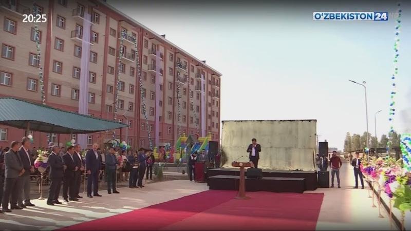Сдача новых жилых домов в Янгиюле