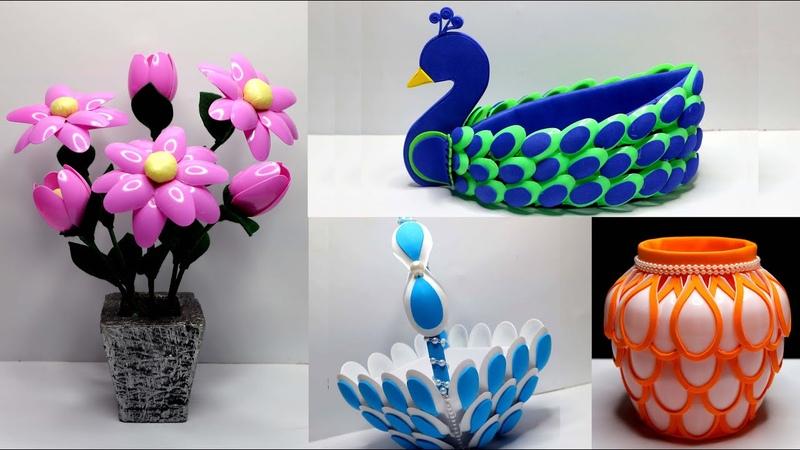 4 Ide Kreatif Terbaik dari Sendok Plastik Plastic spoon crafts