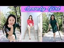 Beautiful leg amputee lady 203001 Pretty SAK Amputee Lady Happy face Dance lover