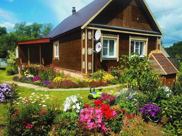 Уютный домик в деревне....что ещё надо для полного счастья (источник: gofazenda)