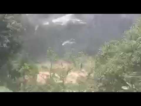 Momentos antes de la caída del Black Hawk en Veracruz donde muere un policía estatal