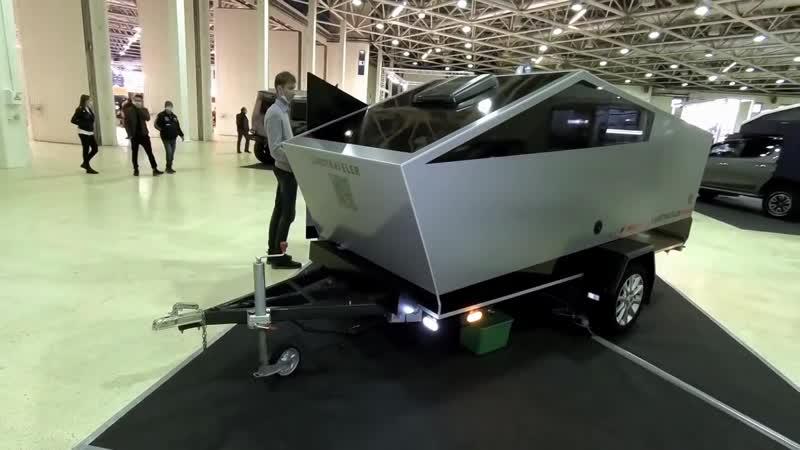 Нива Автодом Tesla прицеп Бурлак УАЗ 6х6 экспонаты выставки Вездеходер 2020