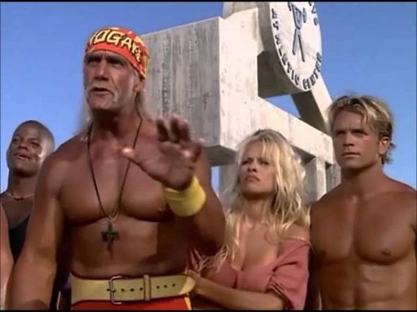 Hulk Hogan Ric Flair and Macho Man Randy Savage on Baywatch