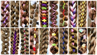 25 Ways to style a ponytail hairstyle braid! Easy natural hairstyles! How to braid!