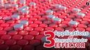 Cinema 4D: 3 Applications of Mograph Shader Effector
