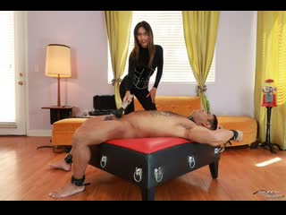 Asia Perez - Tears for Her Pleasure [Femdom, Chastity, Tease and Denial, Electro Play, BDSM, Vibrator, Nipple Clamps, Spanking]