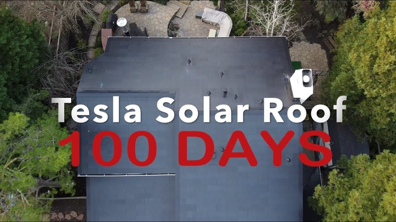 Tesla Solar Roof 100 Days After Installation