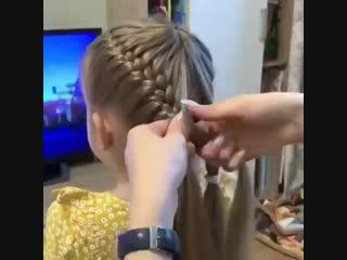 Крутая причёска для девочки!
